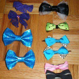Hair bow bundle (4 sets and 2 individual bows)